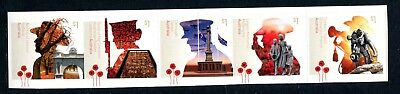 2018 A Centenary of Service! War Memorials - MUH Strip of 5 Booklet Stamps