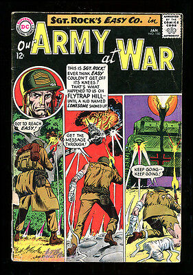 Our Army At War 150 4.0 Vg 1965 Dc Kubert Sgt Rock Easy Company War