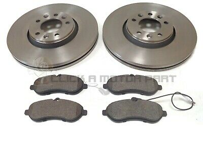 PEUGEOT EXPERT /& TEPEE 1.6 HDi MK2 07-14 FRONT 2 BRAKE DISCS /& PADS CHECK SIZE