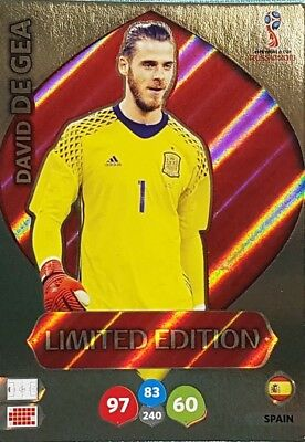 Adrenalyn World Cup 2018 Russia Limited David de Gea Edition Limitiert WM