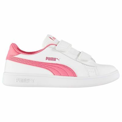 Puma Kids Girls Smash Child Trainers Court Strap Casual Comfortable Fit  Everyday 767d01e6a