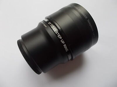 Kodak 36mm to 37mm Adapter Tube and 37mm to 43mm Step Up Ring with lens cover