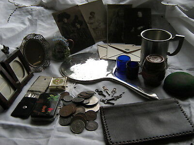 Job Lot Of Antique , Vintage , & Curio Items Including Sterling Silver