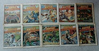 Battle Action Force Comics  (10 issues from 1985 ) Free P&P (Now Only £9.49)
