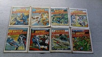 Battle Action Force Comics  (8 issues from 1985 ) Free P&P (Now Only 9.49)