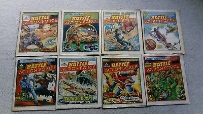 Battle Action Force Comics  (8 issues from 1985 ) Free P&P (Now Only £9.49)