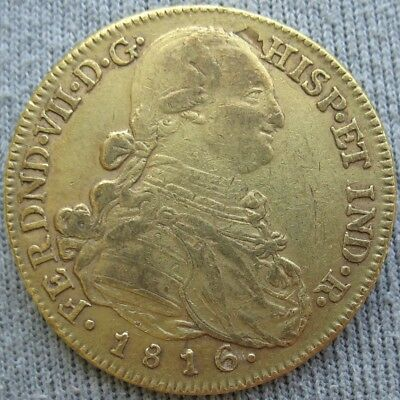 Colombia 1816 NR JF Gold 8 Escudos