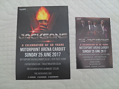 THE JACKSONS - 2 different Lovely tour flyers (MINT) A Celebration of 50 Years