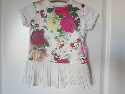 Girls floral Ted baker top age 18-24 months