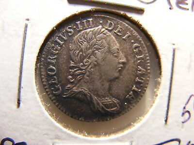 Great Britain 1762 Silver 3 Pence, XF, KM#591