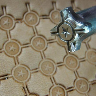 James Linnell - Large Crosshair Star Geometric Stamp (Leather Stamping Tool)
