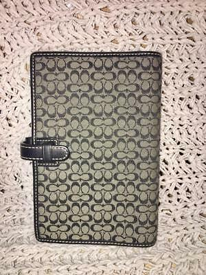 Coach Black Signature  Agenda Planner Address Book Organizer Clutch FS8802