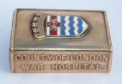 Ww1 Christmas 1916 County Of London War Hospital Crested Matchbox Cover Lot 166