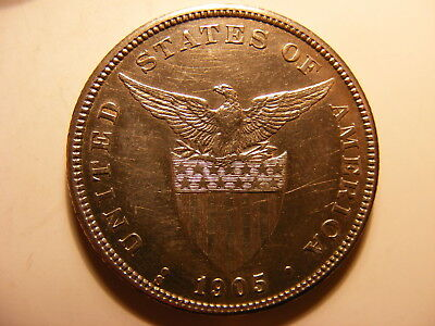 Philippines 1905-S Silver 50 Centavos, KM#167, Almost Uncirculated