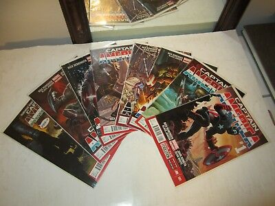 Captain America #s 1 2 3 4 5 6 7 & 8, Straight Run, VF/NM Lot, Hot Set