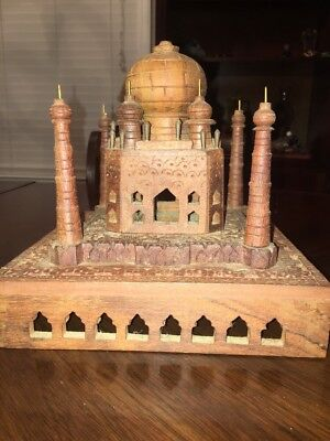 UNUSUAL Stunning  WOODEN carved mosque Beautiful Indian Vintage