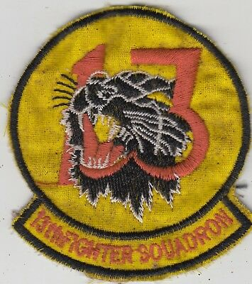 """USAF 13th Fighter Squadron Patch F-4 Phantom II """" Panther Pack """""""