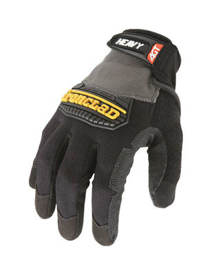 Ironclad  Black/Gray  Men's  Extra Large  Synthetic Leather  Heavy Duty  Gloves