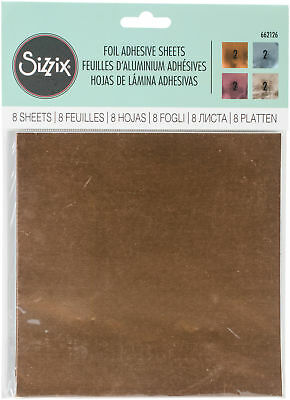 """Sizzix Foil Adhesive Sheets 6""""X6"""" Assorted 8/Pkg-"""
