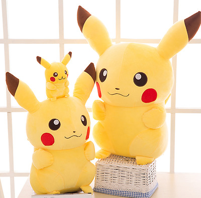 2017 New Pokemon Center Stuffed Doll Anime Pikachu Soft Plush Toy Gift 20cm/8""