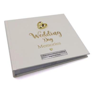 Personalised Wedding Day Photo Album 50 Pictures Intertwined Rings 280156-P