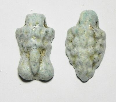 Zurqieh -As4358- Ancient Egypt , 2Nd Intermediate Lot Of 2 Faience Amulets