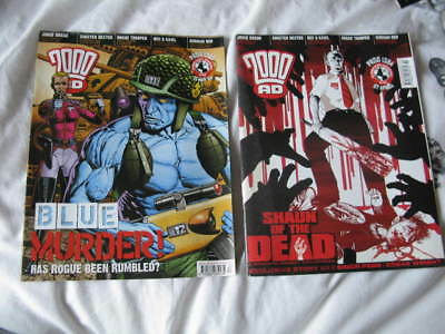 2000AD Prog 1383 & 1384  Mar/Apr 2004 Judge Dredd & More – VF/F