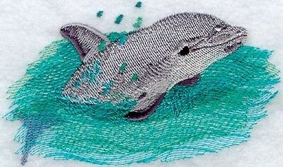 Large Embroidered Zippered Tote - Baby Dolphin M1310