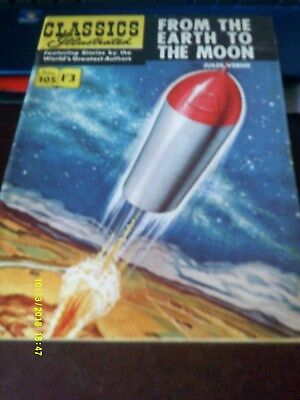 Classics Illustrated Comics/From The Earth To The Moon No 105