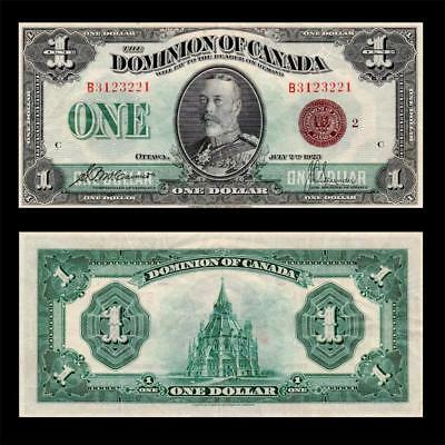 1923 Dominion Of Canada (Kg V), $1 Large » Cv $600 « ~Bronze Seal~ X.rare Issue