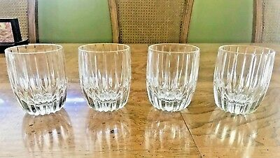 Set/s of 4 PARK LANE Double Old Fashioned Crystal Drinking Glasses Mikasa EUC