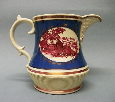 A Staffordshire Lustre Decorated Pearlware Jug, c.1820