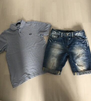 River Island Shorts And Fred Perry T Shirt Age 9-10-11-12yrs