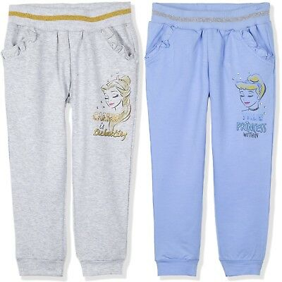 Disney Princess Girls Warm Trousers Joggers Bottoms Pants 95% Cotton 2-6 yrs