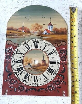 Wall Clock Dial Dutch Hand Painted Schippertje Or Friese Wall Clock Vintage