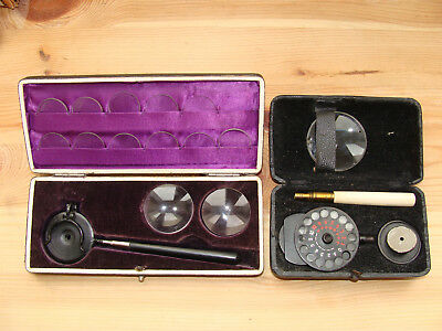 2x Ophthalmoscope Berliner Augenspiegel  19. Jh.