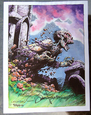 Bernie Wrightson Print Tim Vigil Painted SIGNED by BOTH      Faust