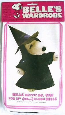 """1982 Peanuts Snoopy's Sister BELLE WITCH OUTFIT #9282 for 15"""" PLUSH - MIP"""