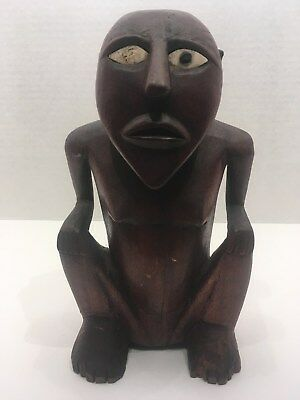 Monkeyman Palau figure, Caroline Islands, Micronesia, Shell Eyes, Satawan (2)