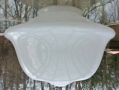"13"" Vintage Milk Glass Art Deco White Schoolhouse Shade for Ceiling Lamp ~ F"