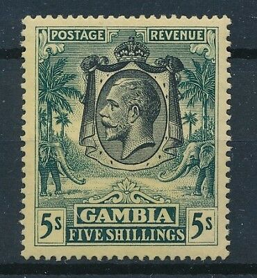 [36497] Gambia 1922/27 Good stamp Very Fine MH Value $60