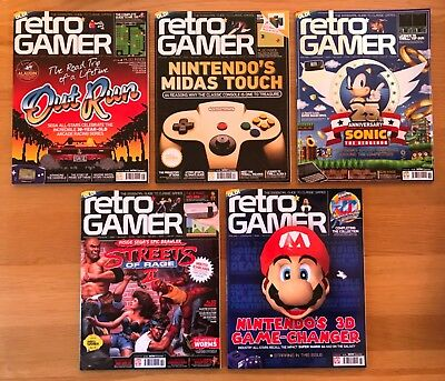 5 Issues Of Retro Gamer Magazine 156 157 158 159 160 Unread Zzap Crash Amtix Cvg