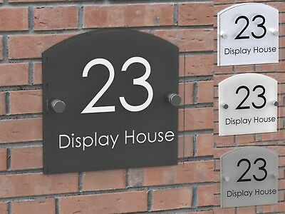 Displaypro Acrylic House Number Plaque Clear Perspex Door Sign Plate Plaques