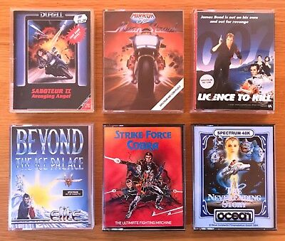 ZX Spectrum...6 GAMES inc. STRIKE FORCE COBRA, THE NEVERENDING STORY +++