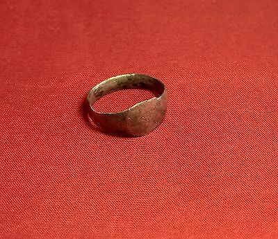 Ancient Roman Silver Ring, Finger Ring, 4. Century