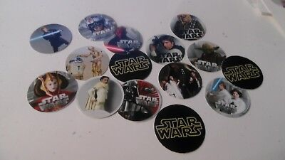 Pre Cut One Inch Bottle Cap Images Star Wars Free Shipping