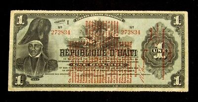 Haiti 1919 Issue 1 Gourde Note - Fine+ - PICK # 140a PG 632