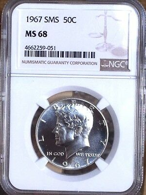 1967 Silver Kennedy NGC SMS 68 * Price Guide $410 - Premium Quality *