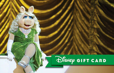 Disney Gift Card - Miss Piggy The Muppets Kermit the Frog - NO VALUE Collectable
