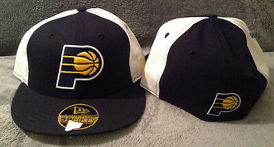 competitive price 7dfb3 c1032 Indiana Pacers New Era NBA 59FIFTY Fitted Hat BLACK WHITE Throwback Mens 6  3